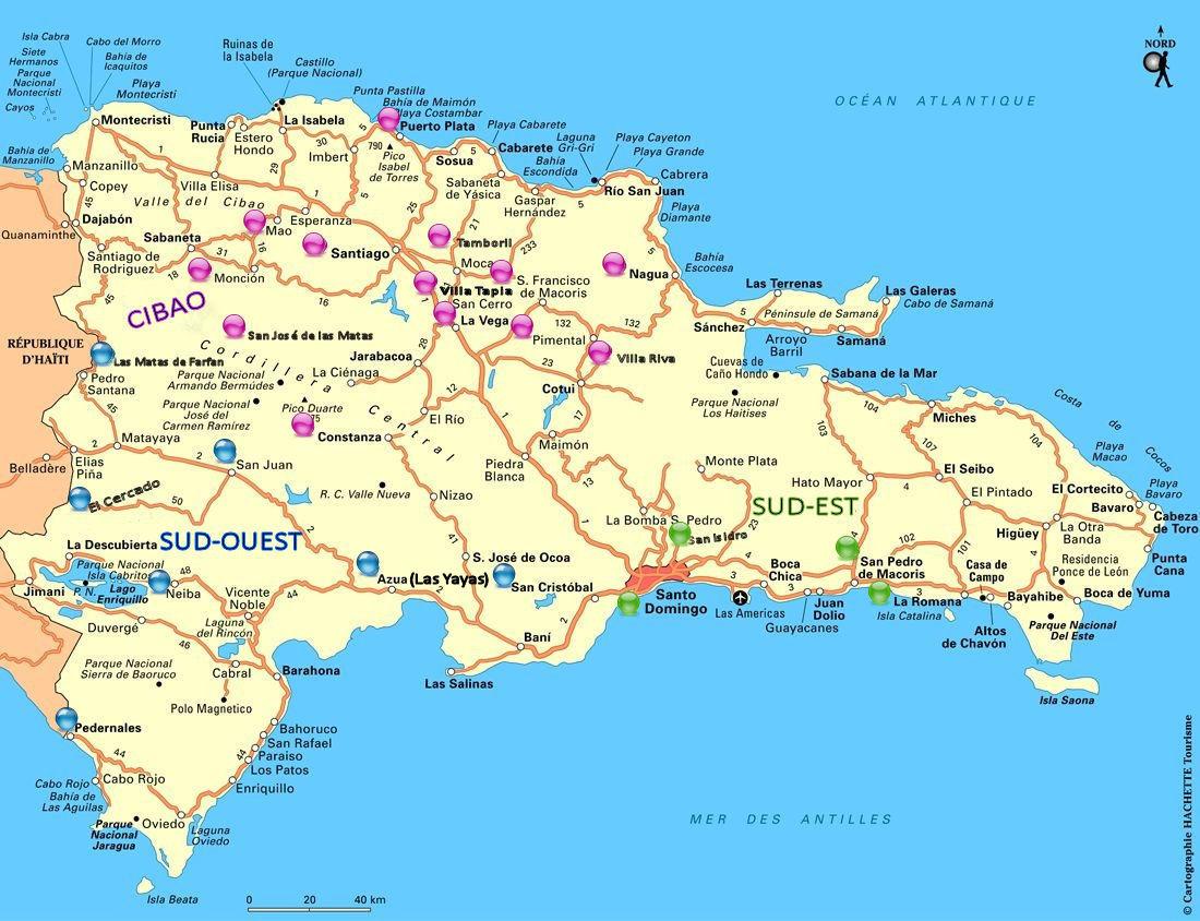 1_République Dominicaine_région par couleurs