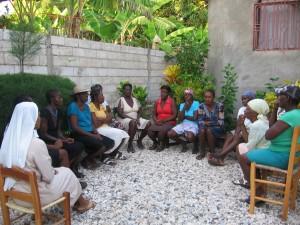1_Réunion avec groupe des femmes Haïti