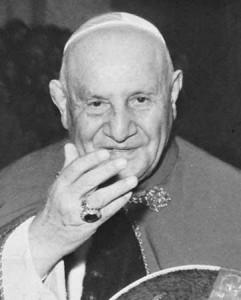 Pape Jean XXIII, instigateur du concile Vatican II (1962-1965)
