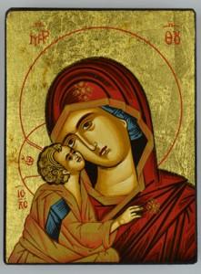 8_Jésus, visage collé à celui de Marie